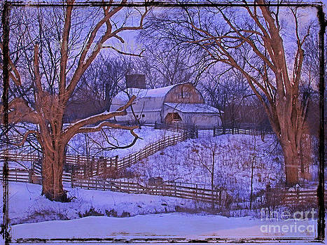 Barn and fences by Jim Wright