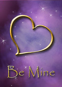 Be Mine Gold Heart by Jeanette K