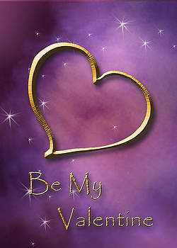 Be My Valentine Gold Heart by Jeanette K