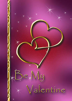 Be My Valentine Gold Hearts by Jeanette K