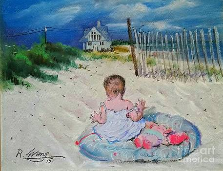 Beach girl by Rose Wang