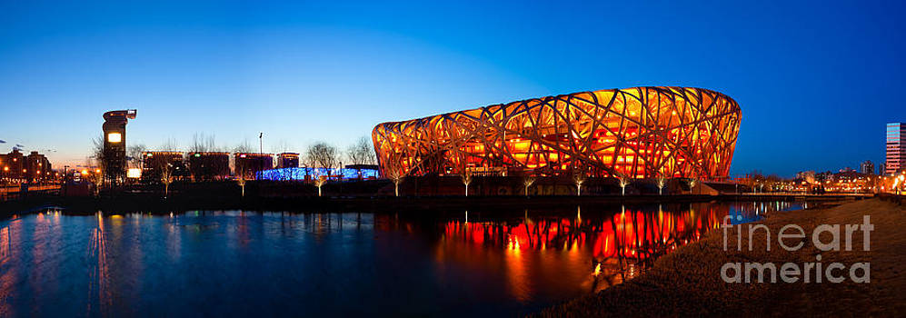 Fototrav Print - Beijing National Stadium by night  The Bird