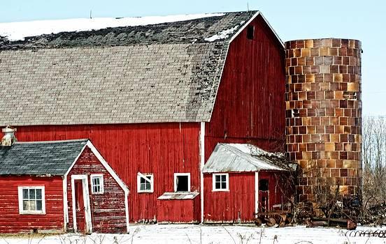 Big barn little barn by Cheryl Cencich