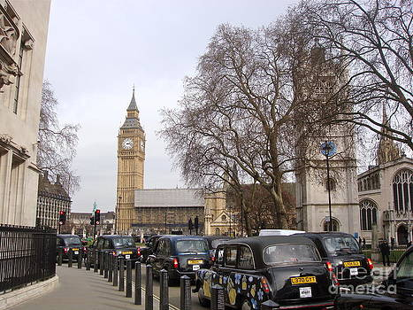 Big Ben And Taxis by Claire-Louise Beyga