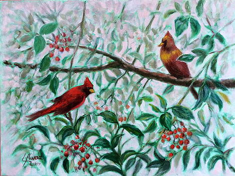 Birds in our garden by Laila Awad Jamaleldin