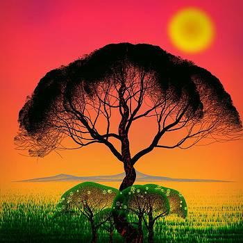 Black Tree - Algorithmic Art by GuoJun Pan