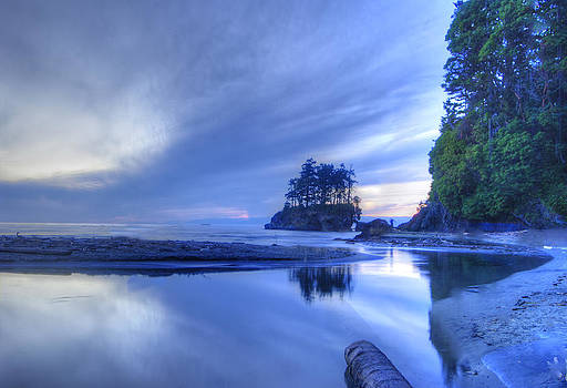 Blue Sunset by Rod Mathis