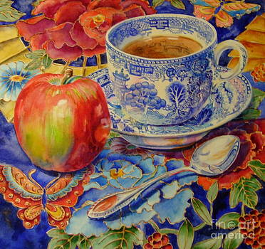 Blue Willow Cup by Barbara Timberman