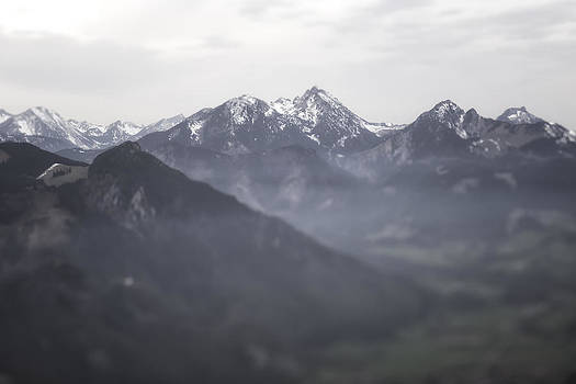 Blurred Mountain Panorama on Cloudy Day by Francesco Rizzato