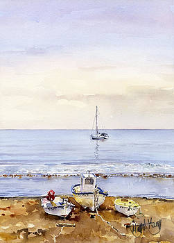 Boats at Las Negras by Margaret Merry