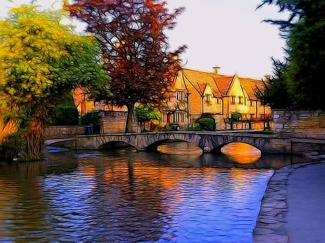 Bourton on the Water by Ron Harpham