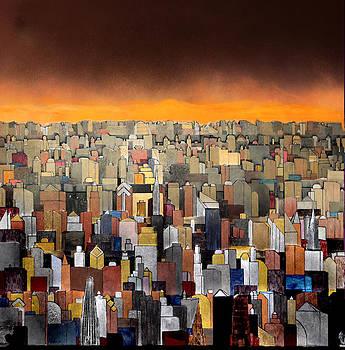 Robert Handler - Bright Yellow Sunset