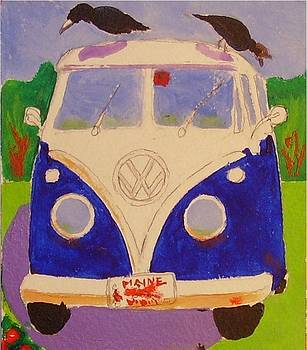 Bus and crows by Catherine Worthley