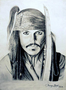 Johny Depp - The Captain Jack Sparrow by Tanmay Singh