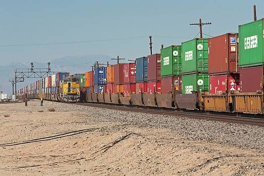 Cargo Container Trains by Jim West