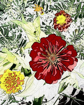 Cartoon Flower by Terry Atkins