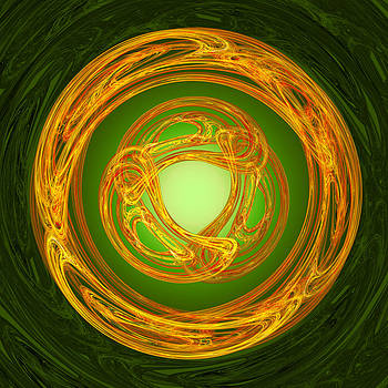 Jane McIlroy - Celtic Abstract on Green