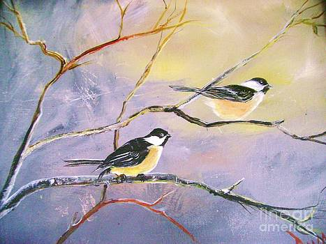 Chickadees by Donna Dixon
