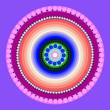 Circle Motif 224 by John F Metcalf