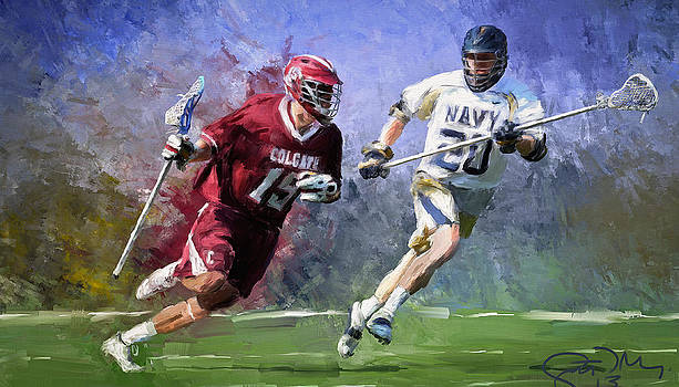 Colgate Lacrosse by Scott Melby