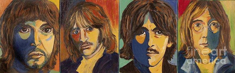 Colorful Beatles by Jeanne Forsythe