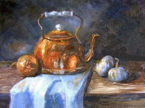 Copper Tea Pot by Sharen AK Harris