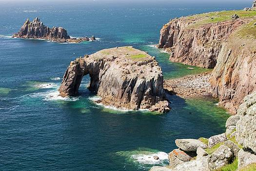Cornish Coastal Scenery At Lands End by Ashley Cooper