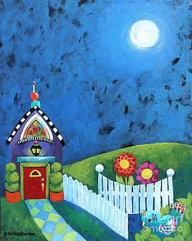 Cottage at Night by Shelley Overton