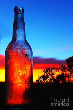 Dawn in a bottle by Wesley Hahn