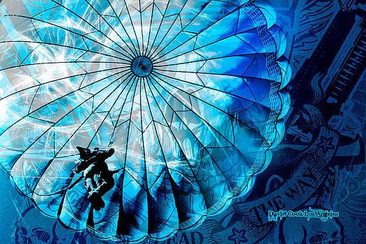 DCLA Designed Skull Airbornescape by David Cook  Los Angeles Prints