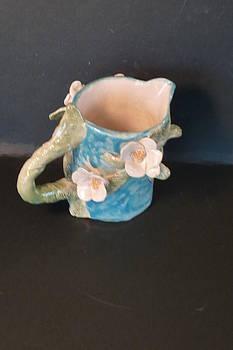 Dogwood ladybug pitcher Handmade in USA by Debbie Limoli