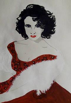 Elizabeth Taylor by De Beall