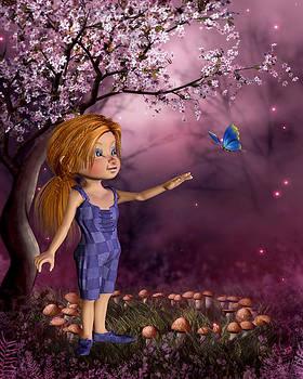 Enchanted  Butter Fly Garden by John Junek