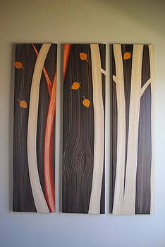 Fall Trees by Carl Mathnay