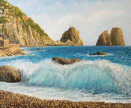 Faraglioni on Island Capri by Kiril Stanchev