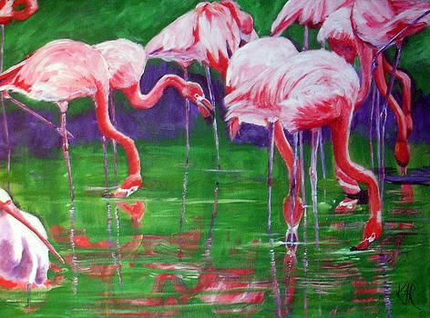 Flamingos by Art by Kar