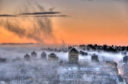 Foggy Sunrise by Doug Farmer