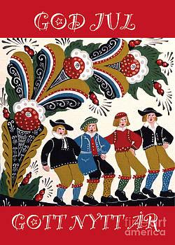 Four Men Dancing by Leif Sodergren