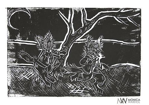 Foxy Night by Monica Warhol