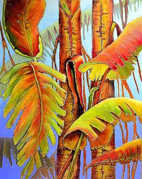 Golden Banana Jungle by JAXINE Cummins