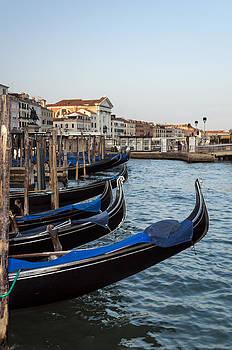 Gondolas in Venice. by Fernando Barozza
