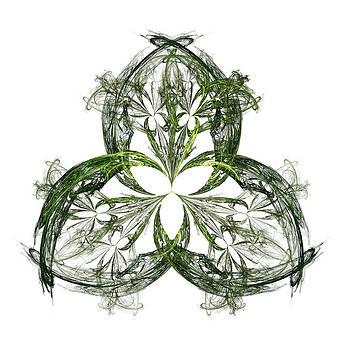Jane McIlroy - Green Irish Shamrock Fractal Motif
