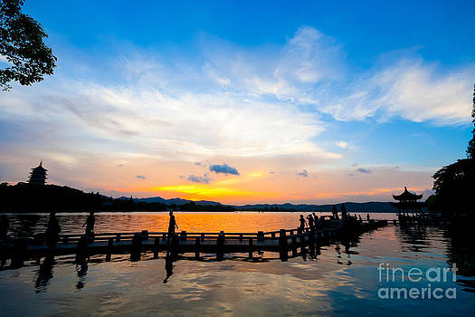 Fototrav Print - Hangzhou West Lake Sunset China