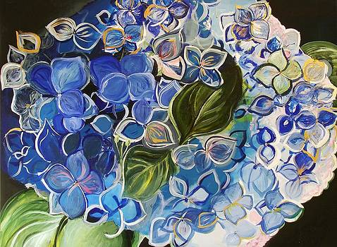 Happy Hydrangea  by Dawn Derringer