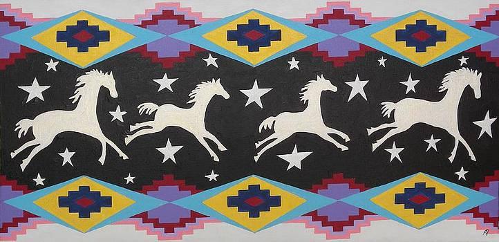 Horses in the sky with Stars by Paul Ferrara