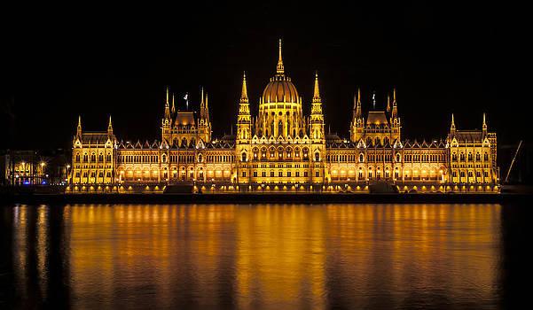 Hungarian Parliament building. by Fernando Barozza