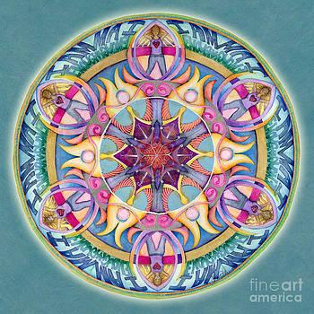 I Am Enough Mandala by Jo Thomas Blaine