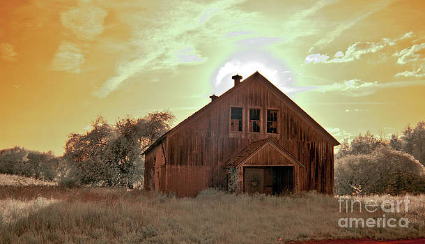 Infrared Barn by Fred L Gardner