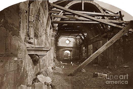 California Views Mr Pat Hathaway Archives - Interior of Old Mission Church at Carmel Mission California  circa 1880