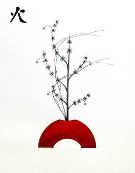 Japanese Ikebana Feung Shui Fire by Gordon Lavender